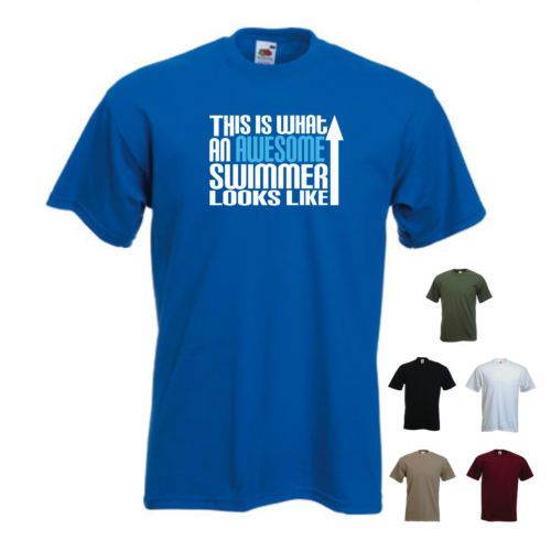 swims shirts u0027this is what an awesome swimmer looks likeu0027 swimming t-shirt tee FSATYMI