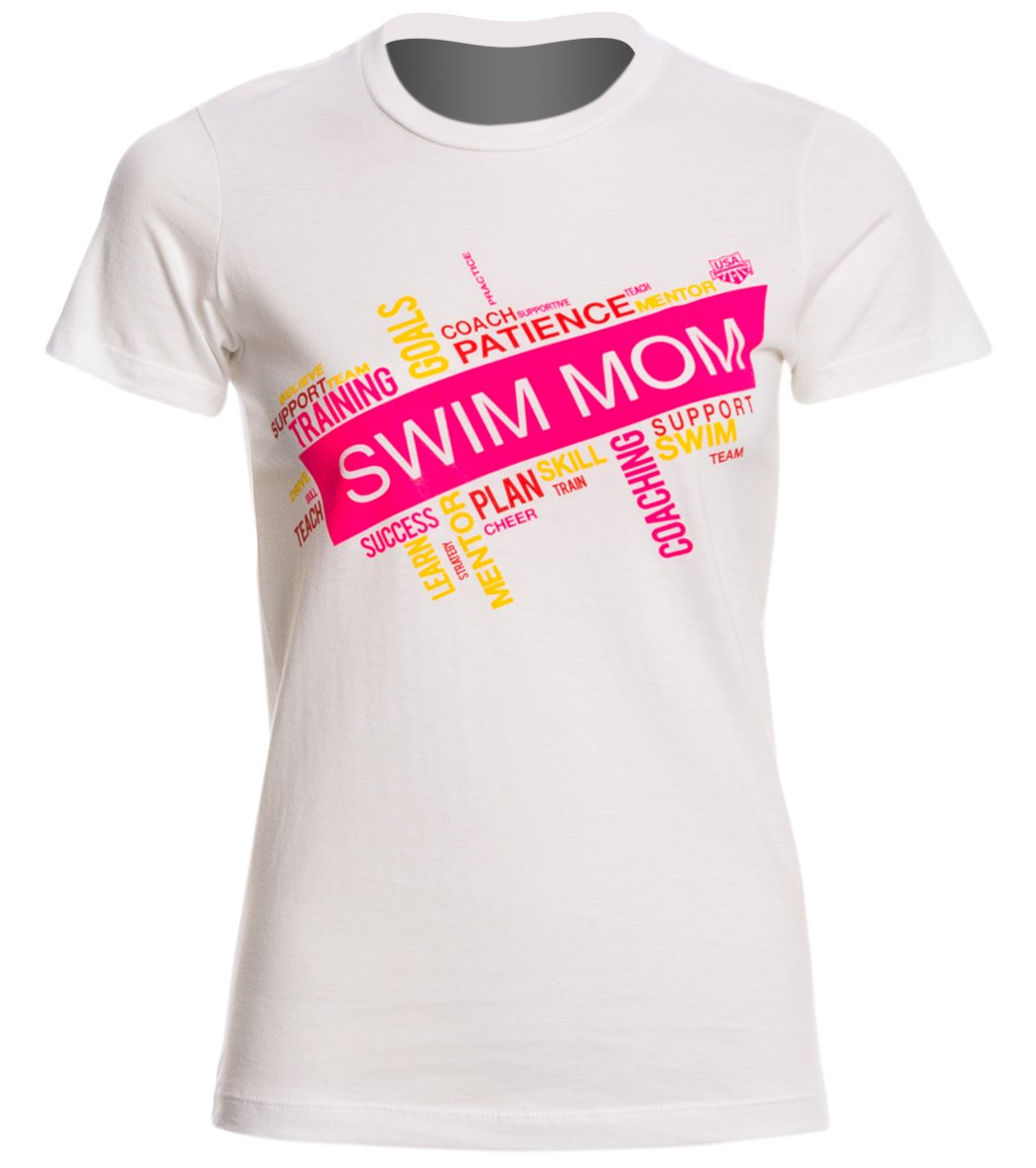 swims shirts usa swimming womenu0027s swim mom word collage crew neck t-shirt at  swimoutlet.com JPVCNMQ