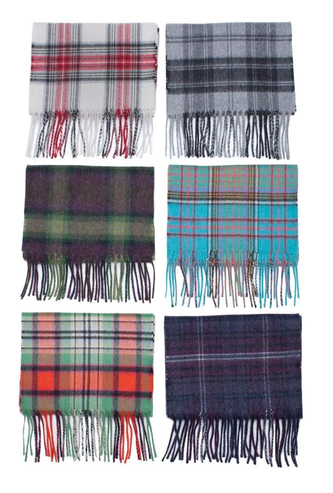 Tartan Scarves brushed wool tartan scarves LWGYUCO