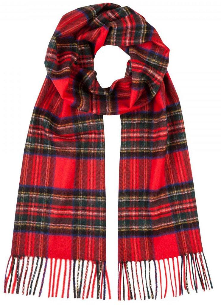 Tartan Scarves graham cashmere tartan royal stewart 100% pure cashmere scarf scarves stole  hawick elgin scotland DRALNAS