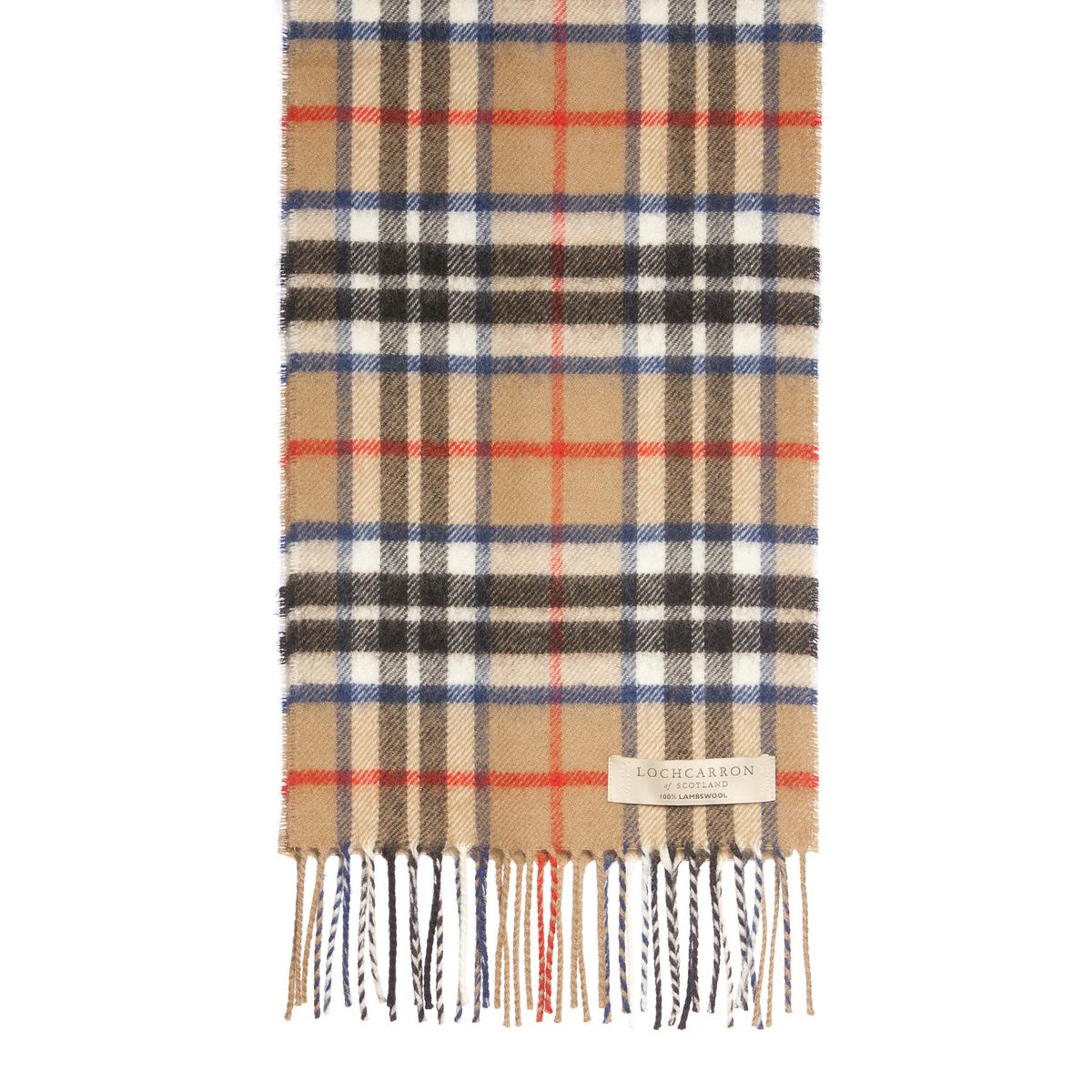 Tartan Scarves lochcarron wool tartan scarf thomson camel modern HTDYAGB