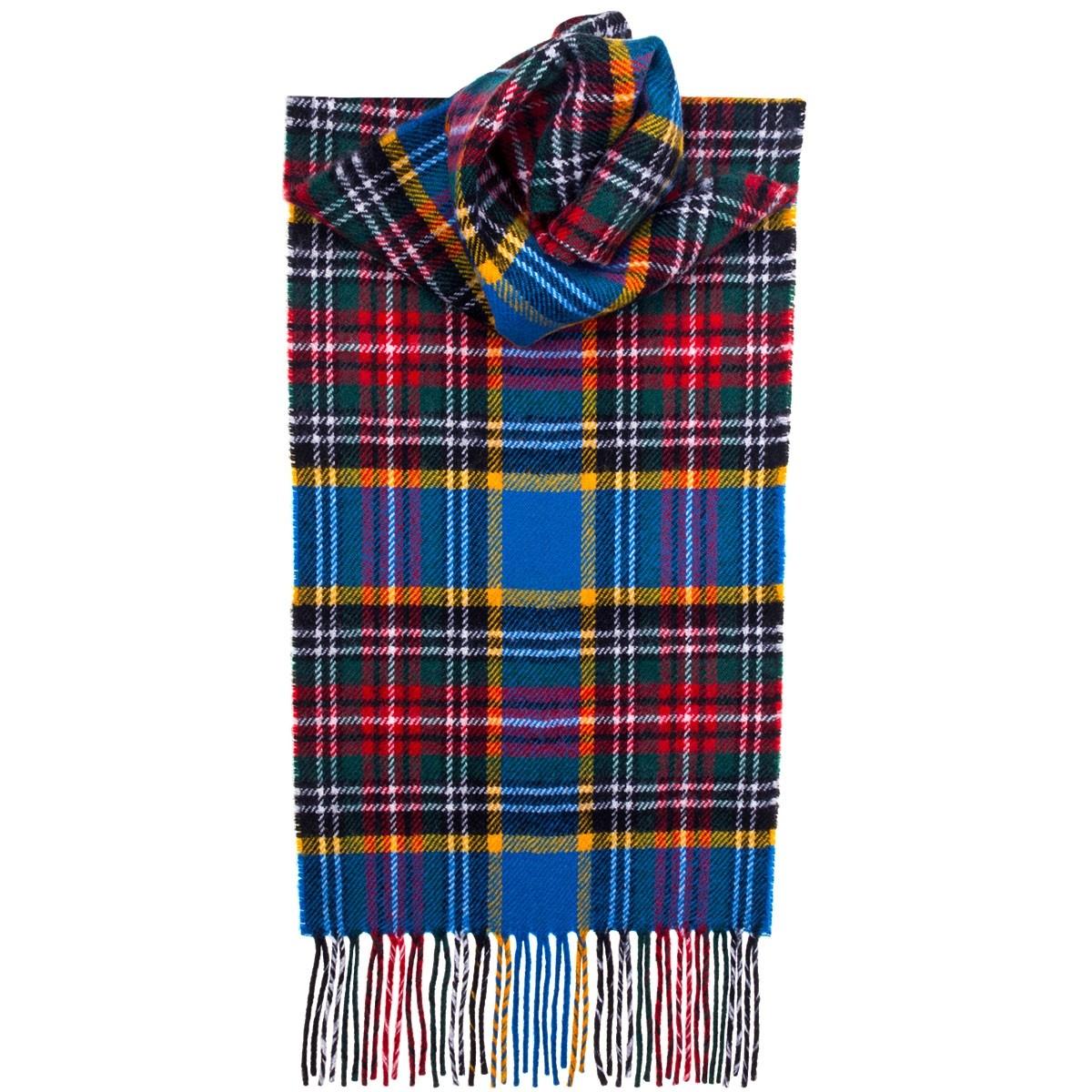 Tartan Scarves macbeth modern tartan lambswool scarf UOCAHAF