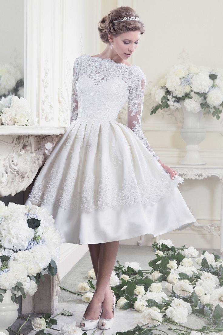 tea length wedding dresses 25 utterly gorgeous tea length and short wedding dresses MIQSNNF