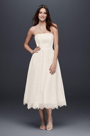 tea length wedding dresses short a-line beach wedding dress - galina AFEVRXY