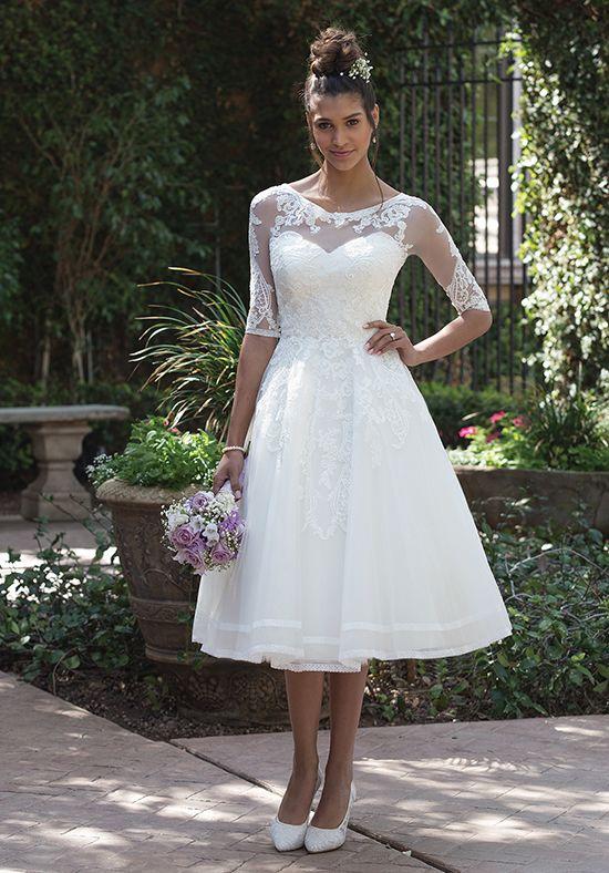 tea length wedding dresses sincerity bridal KEIXEQY