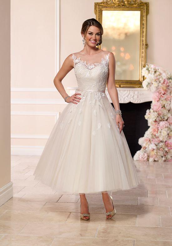 tea length wedding dresses stella york CIEJBDD