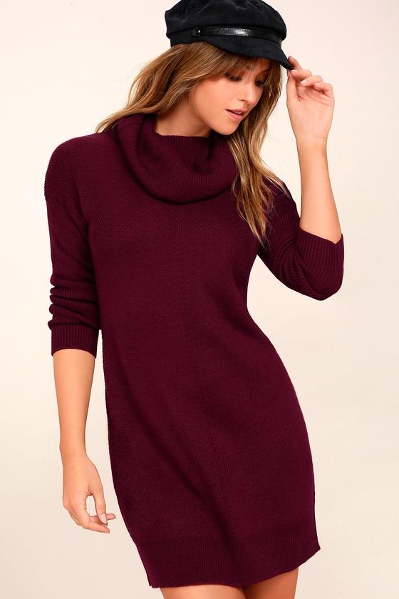 tea reader burgundy sweater dress SLTTFLW