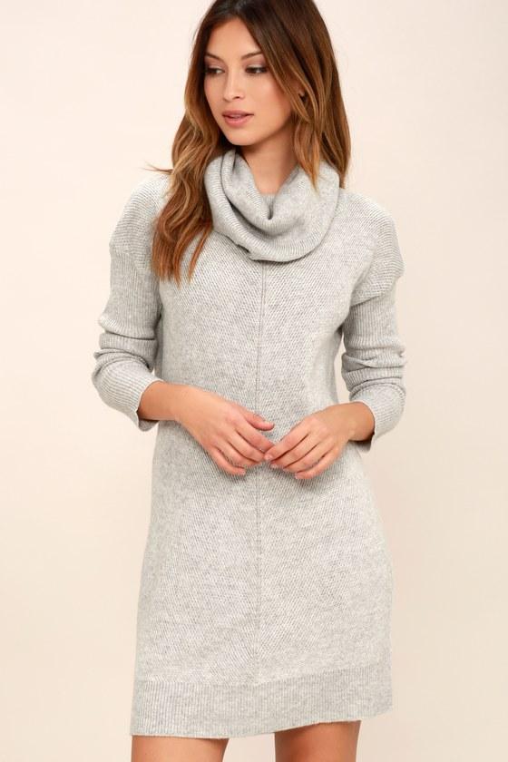 tea reader light grey sweater dress XJDJJZL
