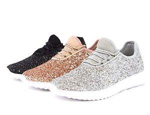 tennis shoes for women image is loading women-sequin-glitter-sneakers-tennis -lightweight-comfort-walking- OLUOBDB
