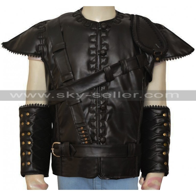 the huntsman chris hemsworth black leather vest YTQYJGQ