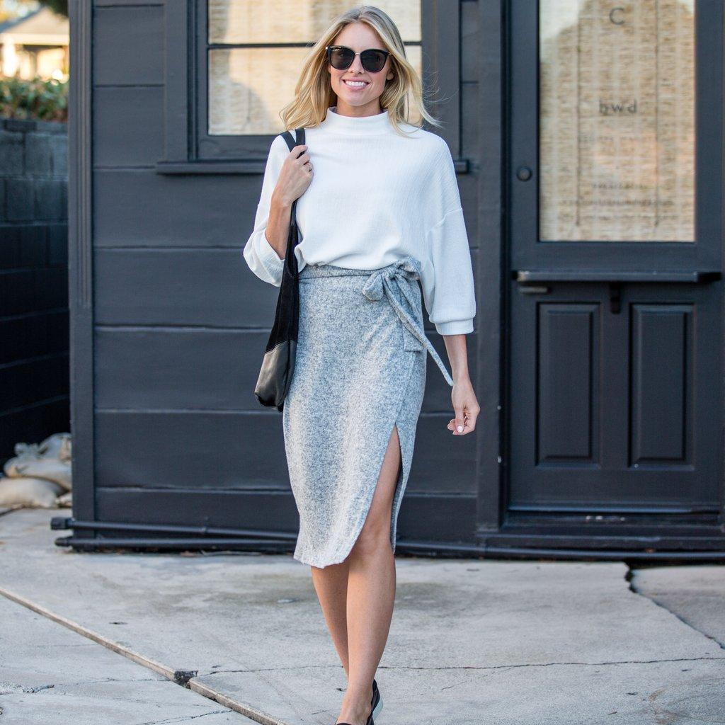 tie-waist wrap skirt FIGQMEQ
