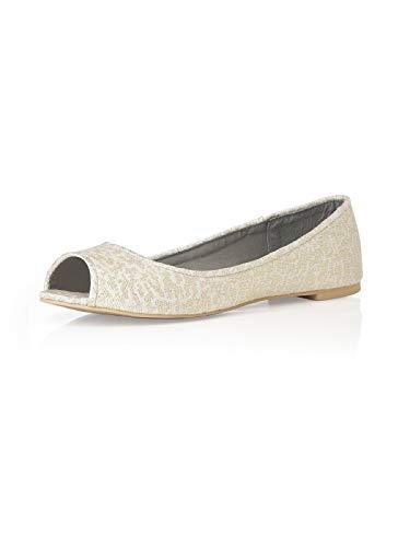toe flats amazon.com | womenu0027s park avenue lace peep toe ballet flats by dessy | flats RRAVRFZ