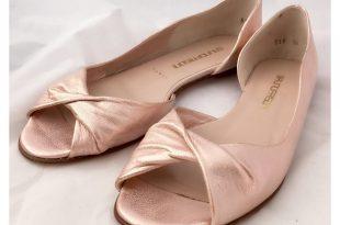 toe flats bruno frisoni rose gold flats ... NPQGVSR