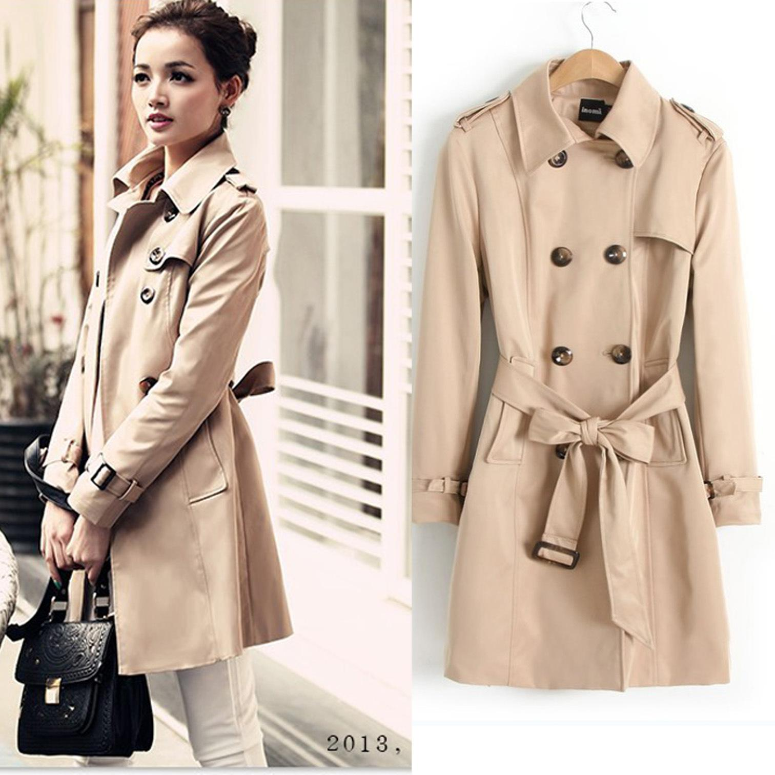 trench coats for women 2018 trench coat 2013 new womenu0027s autumn korean temperament slim epaulet  wild casual fashion PRRZTZG