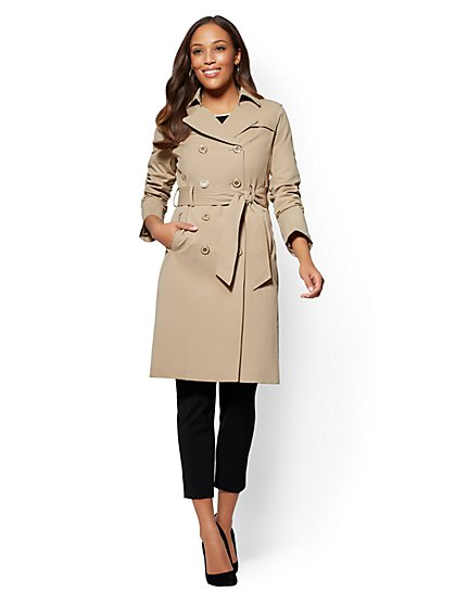 trench coats for women 7th avenue - belted trench coat - new york u0026 company ... ZVHBTBK