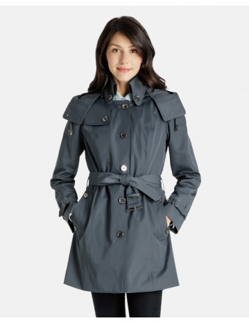 trench coats for women mia short heritage trench coat with back shield flap and removable quilted  lining FUOAMBT