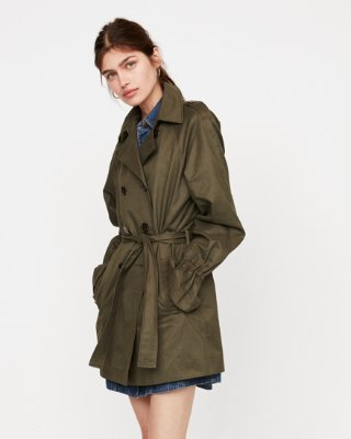 trench coats for women relaxed flutter sleeve trench coat | express ZWDVBFO