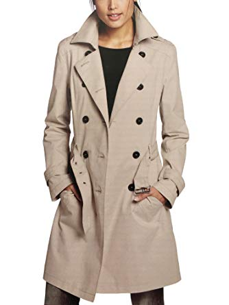 trench coats for women s curve womenu0027s double breasted trench coat beige eu 40 DIUXNPI