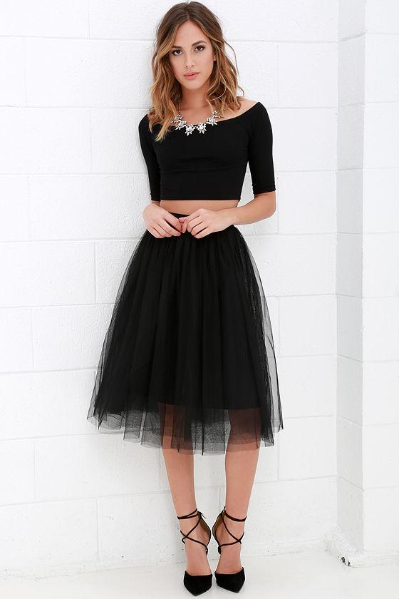 Tulle skirt urban fairy tale black tulle skirt LZGMFJV