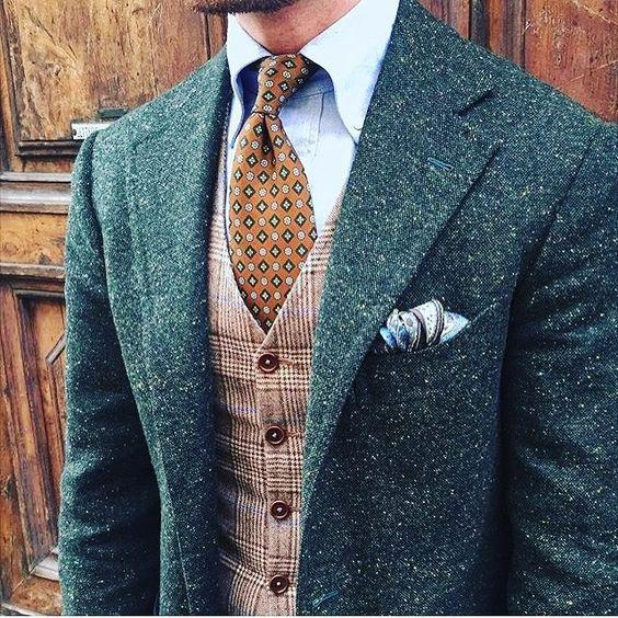 Tweed Suits 2017 mens green donegal tweed suit custom made brown mens tweed suit  tailored single KHSVUEZ