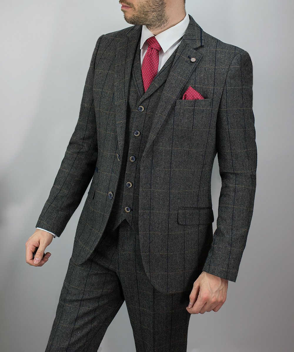 Tweed Suits albert grey suit - cavani ... AEABOUC