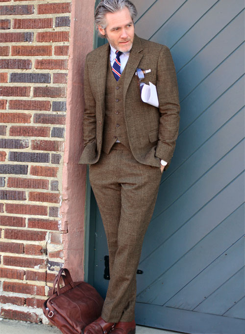 Tweed Suits vintage glasgow brown tweed suit WVOFAWD