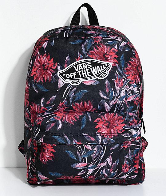 vans bags vans realm black dahlia 22l backpack ... ZUADGLS