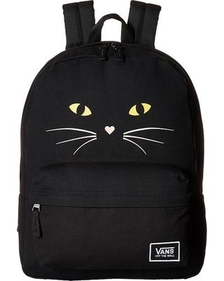 vans bags vans - realm classic backpack (black cat) backpack bags SLCMTBQ