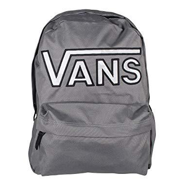 vans realm backpack pewter/camo logo school bag va34gho56 - vans bags DSIJHGO