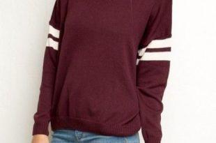 Varsity Sweater brandy melville maroon varsity sweater XSHITBE