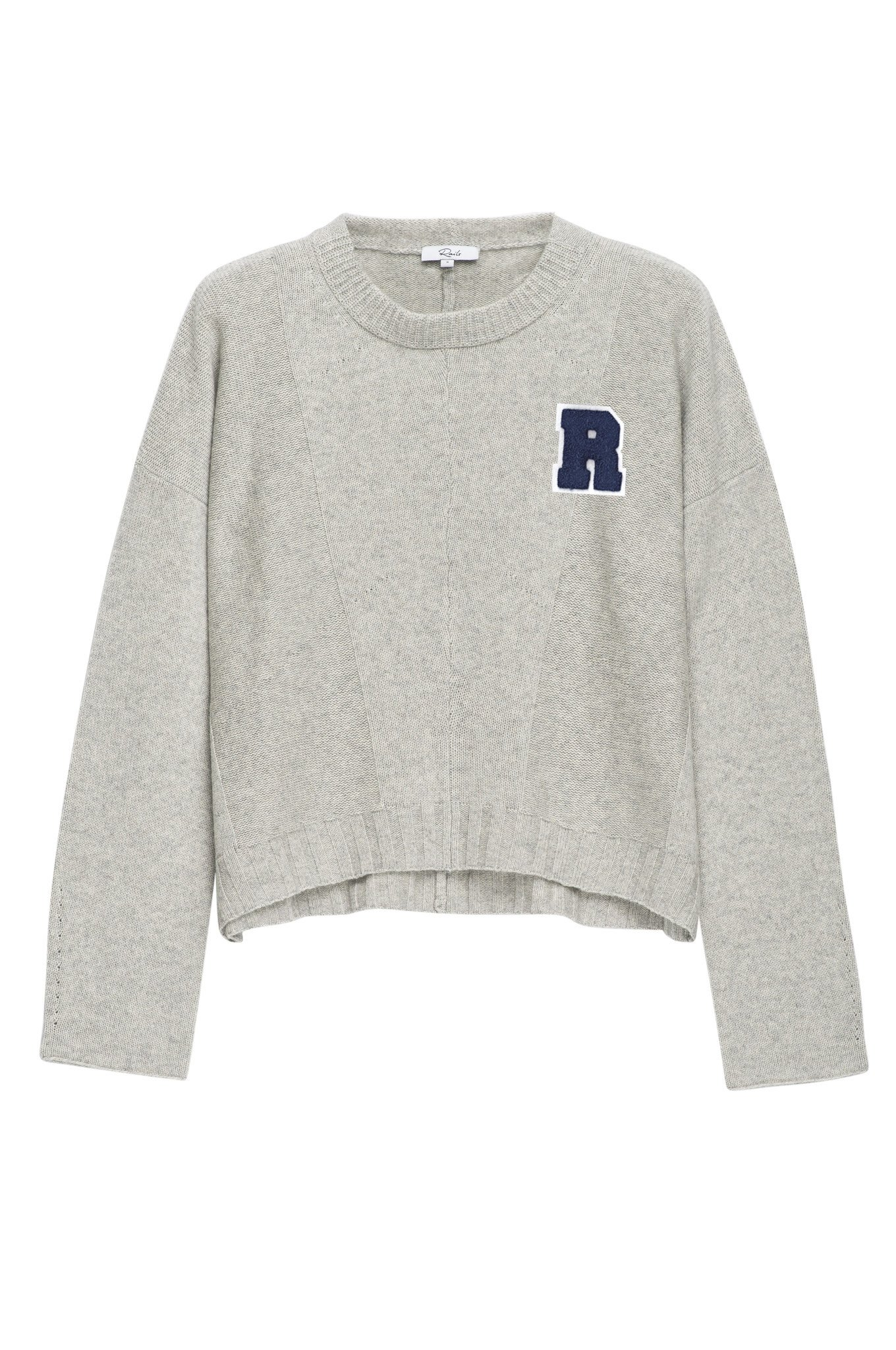 Varsity Sweater custom joanna varsity sweater - heather grey JUVHCLT