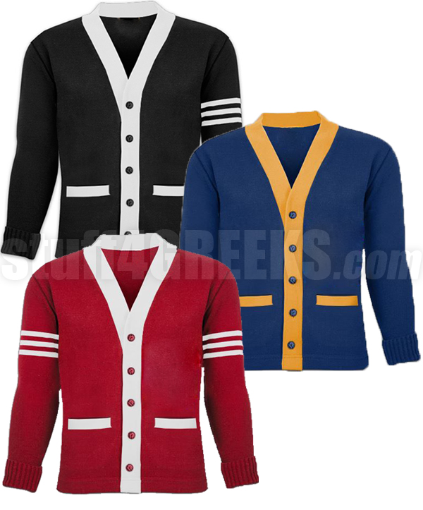 Varsity Sweater description; customer reviews. description. this varsity cardigan sweater  ... OBZQFGY