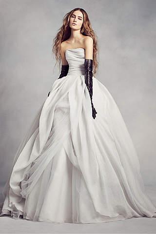 Vera Wang wedding dress long ballgown modern chic wedding dress - white by vera wang XGEAZNV