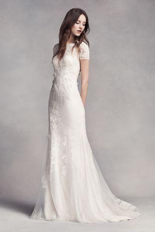 Vera Wang wedding dress long sheath boho wedding dress - white by vera wang IPNOSIR