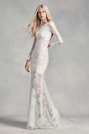 Vera Wang wedding dress long sheath modern chic wedding dress - white by vera wang PVIHAIW