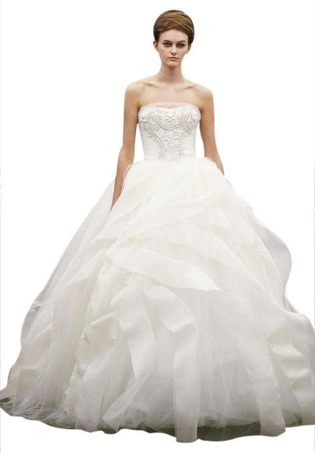 Vera Wang wedding dress vera wang white/ivory liesel wedding dress size 4 (s) VKXKYDF
