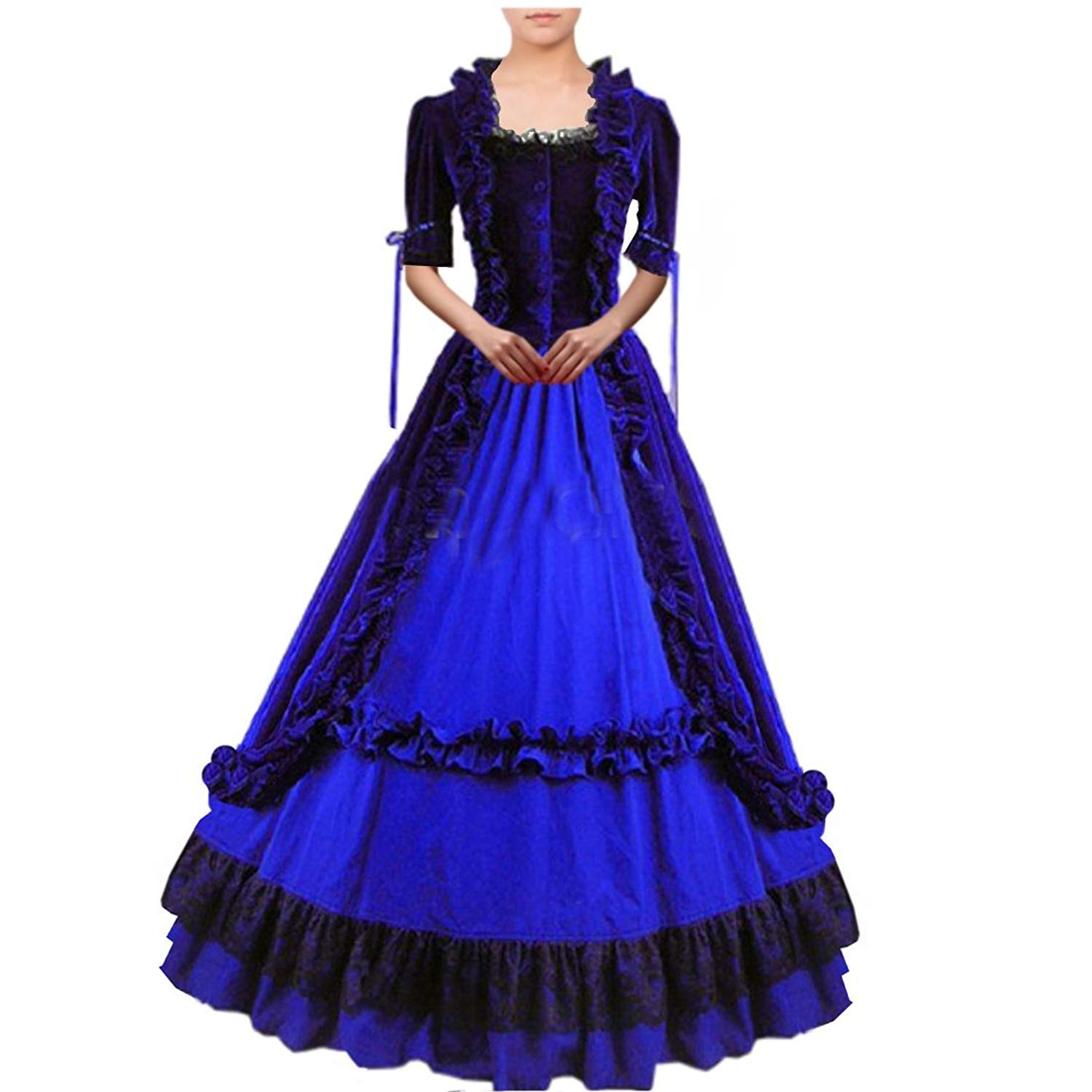 Victorian dresses amazon.com: partiss women lace ruffles gothic victorian fancy lolita dress  costumes: clothing ONPRNZE