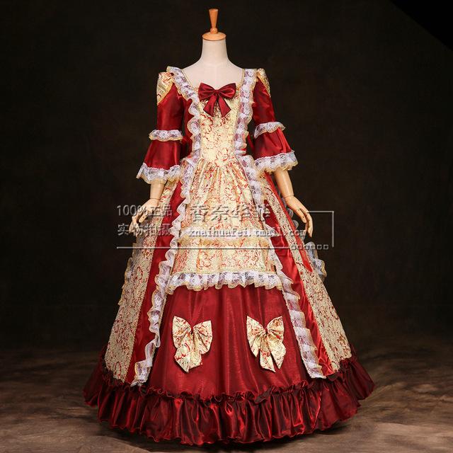 Victorian dresses european elegant ruffles18th century renaissance gothic victorian dresses  halloween victorian ball gowns/party dress costume YHDEUNK