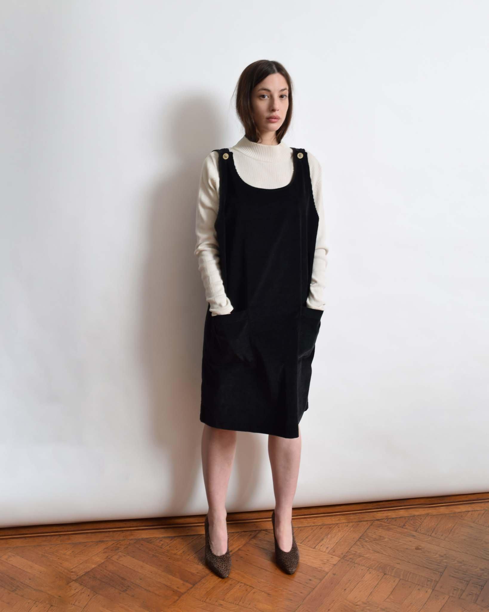 vintage corduroy jumper dress ZQLETRO