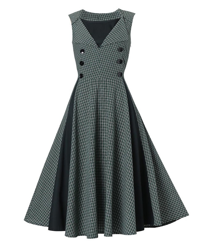 vintage dress run-the-show-gray-vintage- ... LDTNSRC