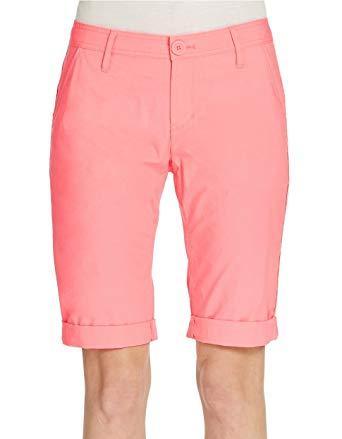 Walking shorts dkny jeans womenu0027s bermuda walking shorts (2, coral) WVYPMYR