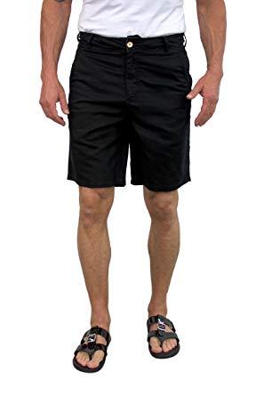 Walking shorts short fin menu0027s linen walking shorts (size 30, black l8001) BTCBYOE