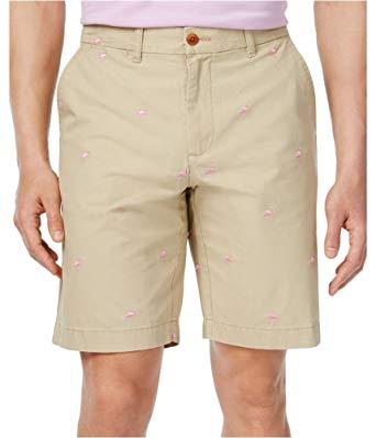 Walking shorts tommy hilfiger mens flamingo casual walking shorts khaki 38 tall WXRECIR