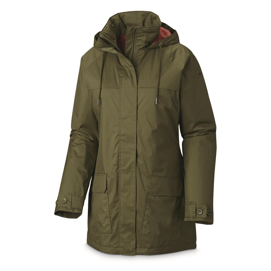 waterproof coats columbia womenu0027s lookout crest insulated waterproof jacket, nori green EKEOGOW