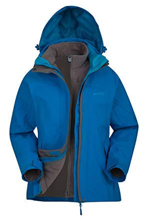 waterproof coats mountain warehouse storm 3 in 1 womenu0027s waterproof jacket - detachable  fleece turquoise 0 EKBDPHL