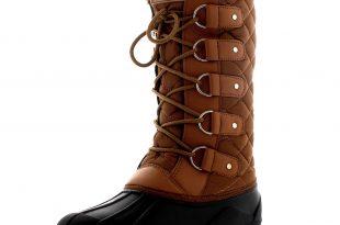 waterproof walking boots womens-faux-fur-tactical-mountain-waterproof-knee-high- BUEEKSD