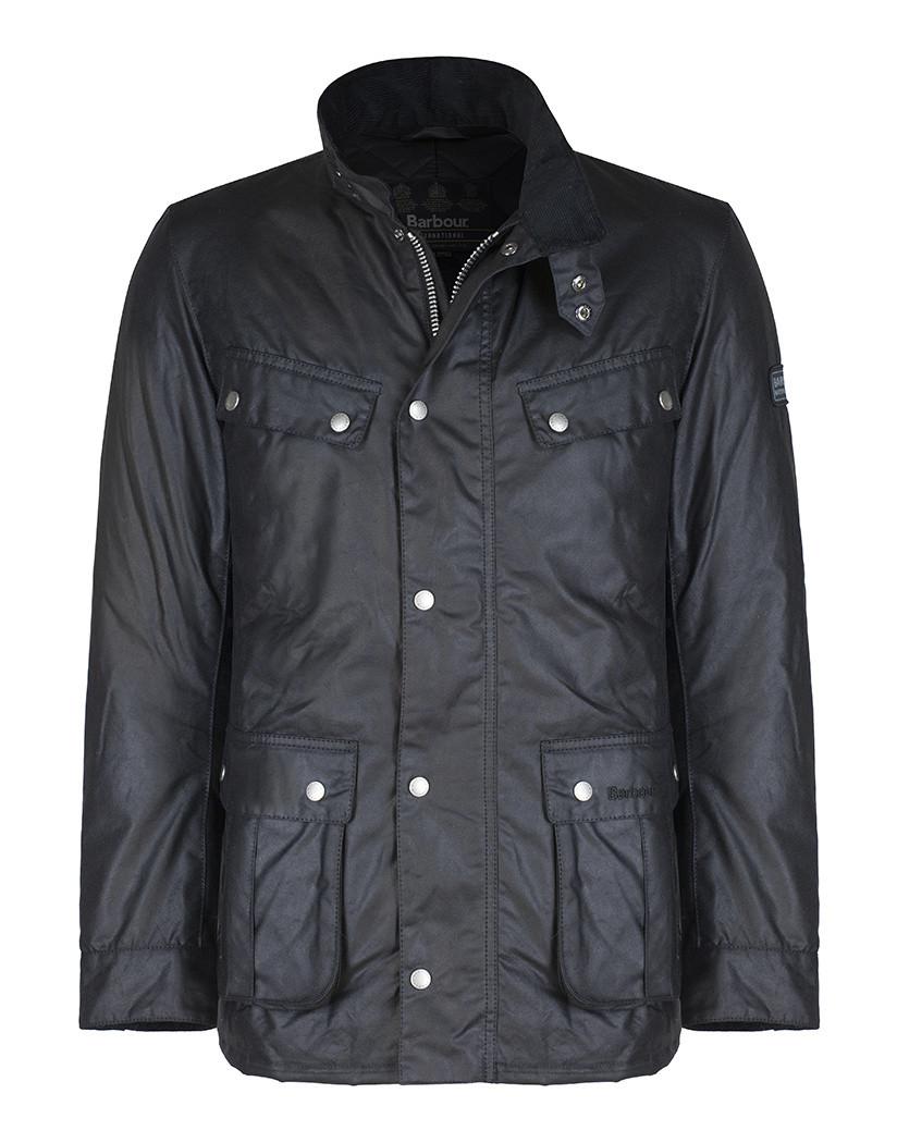 Waxed Jackets barbour international menu0027s duke waxed jacket - black mwx0337bk91 ... MHMTDSL