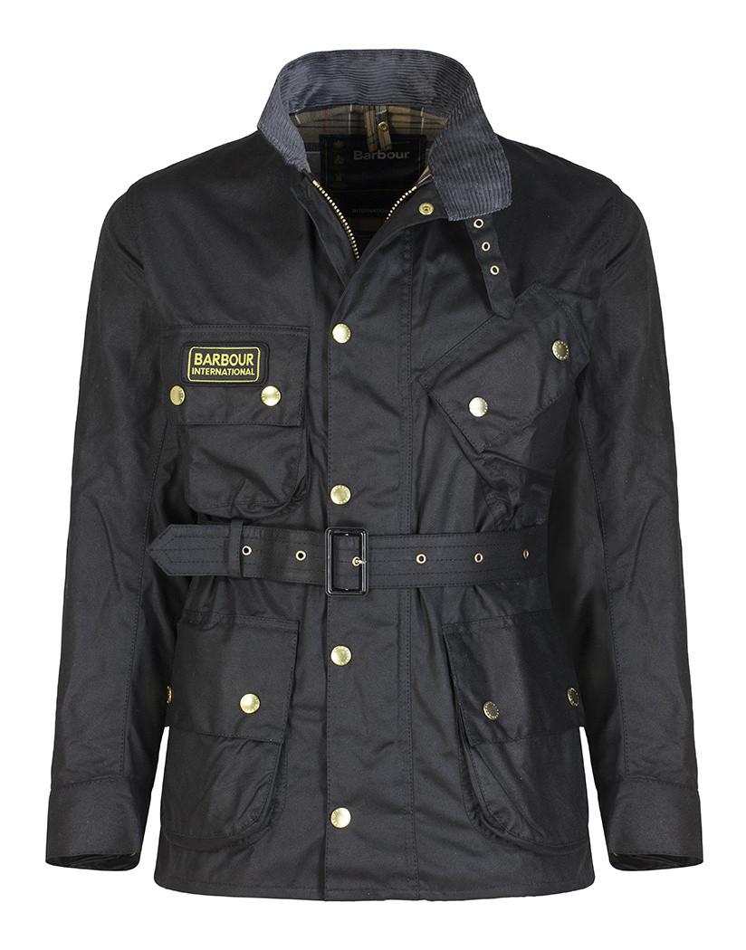 Waxed Jackets barbour international menu0027s original wax jacket - black mwx0004bk51 (a7) ... MAEYPVD