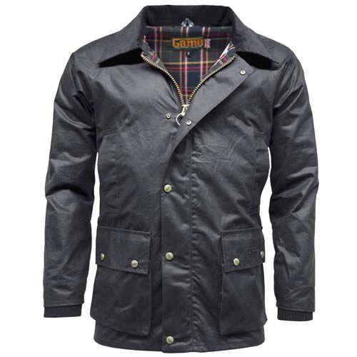 Waxed Jackets game barker menu0027s waxed jacket - navy RSPFJIA