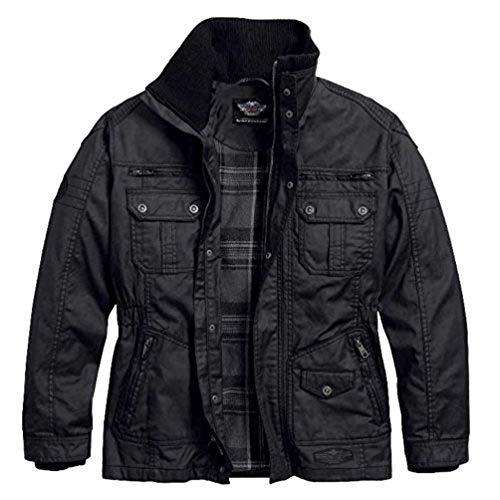 Waxed Jackets harley-davidson menu0027s out-of-reach rugged waxed casual jacket 97559-16vm  (xl) ENMAICE